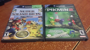 Gamecube games for sale (Melee & Pikmin 2)
