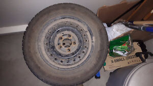 195/65 R15  Goodyear Nordic winter tires with steel rims 5 bolt