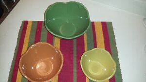 Colorful serving bowls