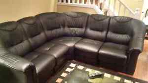 Black 5 piece sectional couch