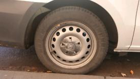 """Steel van/taxi 16"""" wheels with tyres. Mercedes van"""