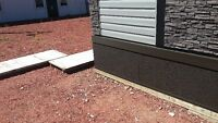 Colored Mobile Home Skirting