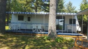 Location Roulotte ( Chalet )  Eastman Camping Leroux