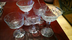 VARIOUS CRYSTAL AND GLASS STEMWARE