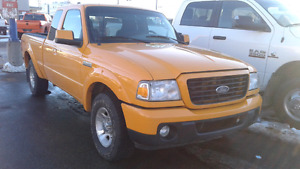 2008 Ford Ranger Sport Pickup Truck RWD Yellow
