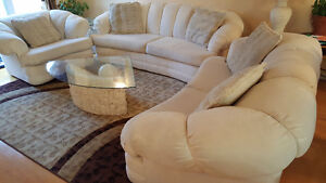 Sofa Set with Center & Side Tables West Island Greater Montréal image 1