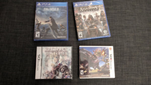 ps4 + ds/3ds games (new/sealed soul calibur 6 + more)