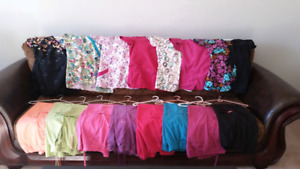 Scrubs for sale. Size sm.  7 tops and 8 pants. $100.00 for all