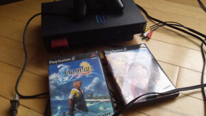 Ps2 Console with Controller, 8mb Memory Card, cables, 2 games