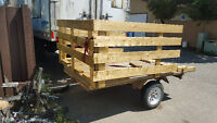 4.5'×8' trailer with dump