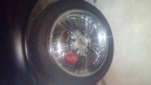 "18"" set of chrome rims and tires Windsor Region Ontario image 1"