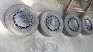 "Set of 4 VW 14"" Aluminum Wheels"