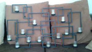 Candle holder holds 14 candles