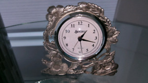 Seagull pewter clock
