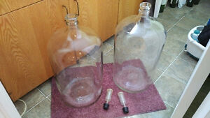 GLASS WINE CARBOYS, 23 LITRES EACH