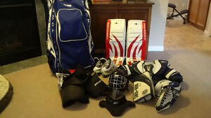 Junior / Youth Goalie Equipment Set with extra glove and blocker