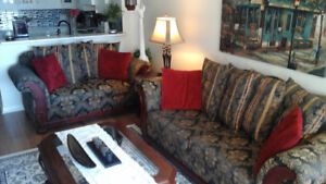 Chesterfield and Love seat Set