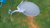 satalite dish and satalite reciver free to air