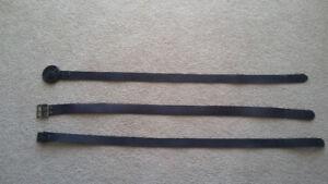 Men's leather belts - including Harley Davidson buckle
