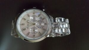 MK Michael Kors watch silver/clear band (used)