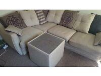Huge corner sofa + stylish table !!!!