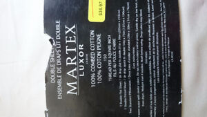 100% combed cotton double sheet set, brand new