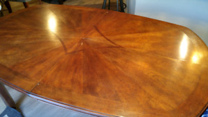 Dining Room Table Dark Brown Cherry