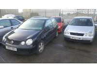 2X Volkswagen Polo 1.4 BREAKING FOR SPARES