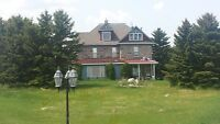 160 acres  4000+ SQ FT FIELD STONE HOUSE,  MANY OUTBUILDINGS  !