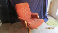 MID-CENTURY(NOT TEAK) LOUNGE CHAIR&OTTOMAN BY RS FURNITURE!
