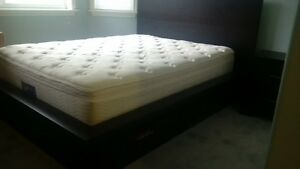 queen bed with one night stand