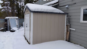 Metal Storage Shed on Skid