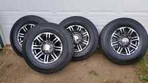 Chevy GMC 2500HD 3500 Custom rims and tires - like new.