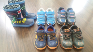 Toddler Rain Boots & Runners Shoes Size 8