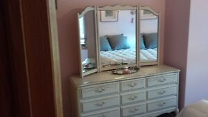 Estate Sale - Shabby Chic dresser and night table