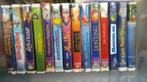 Disney VHS Movies and player