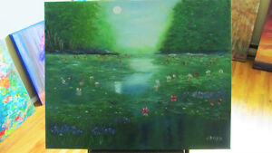 Beautiful painting- oil on canvas in perfect condition St. John's Newfoundland image 2