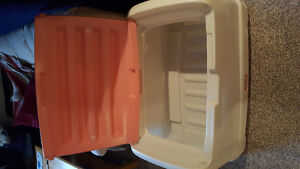Large Little Tikes pink and white toy box