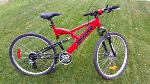 Red Supercycle Vortex Mountain Bike