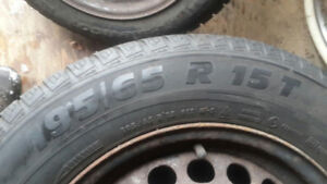 4 winter Tires On rims 195/65/r15  $100 for 4