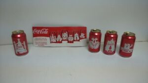 COLLECTION DE 4 DE 6 CANETTES COCA COLA DE NOEL (item#68)