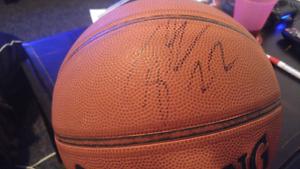 Oklahoma thunder star taj gibson autographed ball