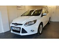 Ford Focus 1.6TDCi ( 115ps ) Titanium estate in white 2013