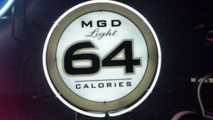 MGD 64 beer neon sign