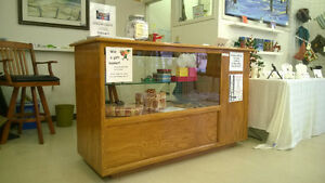 Oak Retail Counter/Display Case ** REDUCED TO $300. **