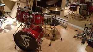 Drum batterie YAMAHA BOIS D'ACAJOU POWER V haut de gamme sabian