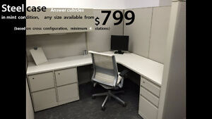 Used Cubicles Steelcase Answer from $799