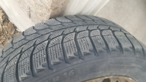 Set of X-ICE MICHELIN winter tires+rims 205/55R16