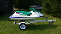 1993 Sea Doo XP 580 with trailer