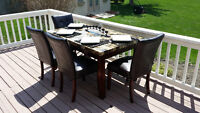 Faux Marble Dining Set Selling for $300 or best offer